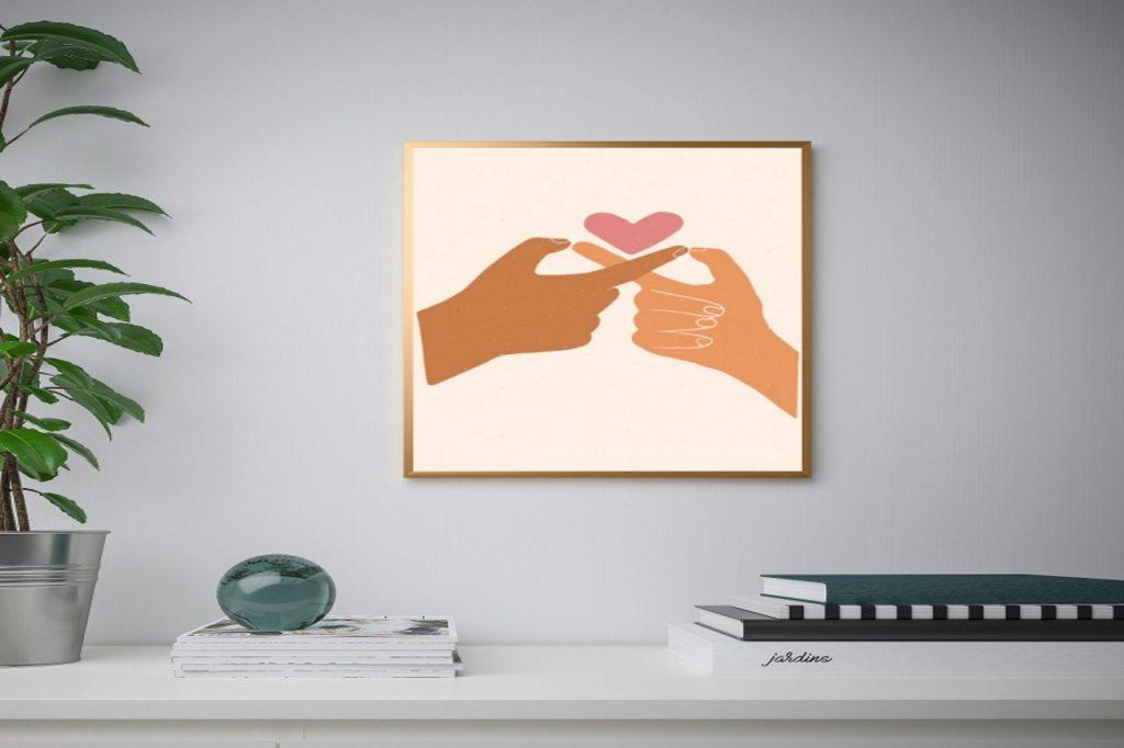 Weź udział w akcji walentynkowej i zabierz do domu dekoracyjną grafikę
